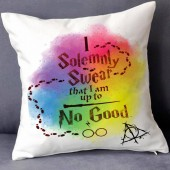 Harry Potter I Solemnly Swear Cushion Covers Tie Dye Deathly Hallow Sunglasses Faux Suede