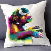 Patrice Murciano Gamer Monkey Ape With VR Xbox Retro Square Cushion Covers** PAD NOT INCLUDED