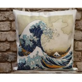The Great Wave off Kanagawa Japan Square Cushion Cover Home Nursery Office Deco