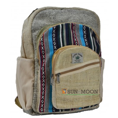 Hemp Bag Backpack Cross Zip 2nd Edition