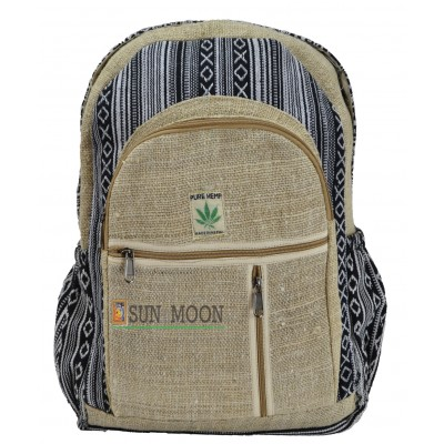 Nomad Black Hemp Backpack