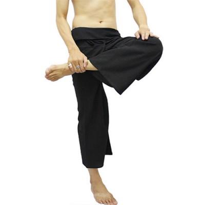 Black Fisherman Trouser Pant Boho Unisex One Size