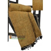 Warm Natural Yak Wool Camel Brown Blanket Shawl Scarf Winter