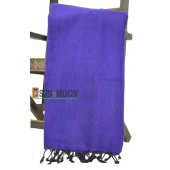 Warm Natural Yak Wool Purple Blanket Shawl Scarf Winter