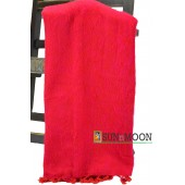 Warm Natural Yak Wool Red Blanket Shawl Scarf Winter