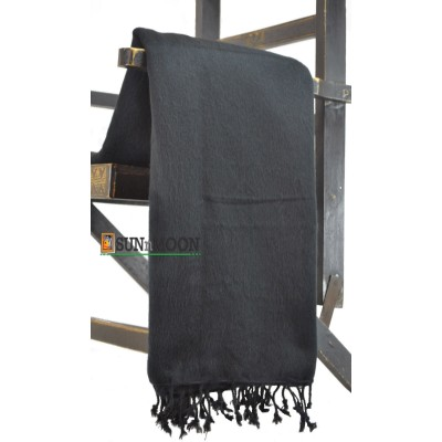 Warm Natural Yak Wool Black Blanket Shawl Scarf Winter