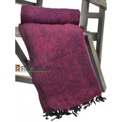 Warm Natural Yak Wool Pink Blanket Shawl Scarf Winter