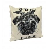 Pug Life Cushion Cover 18*18