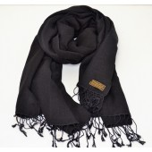 Silk and Pashmina Scarf Black